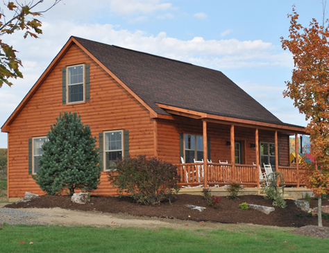 House pictures of vinyl log siding homes